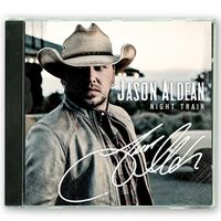 Brand New Jason Aldean Night Train Autographed Signed CD 15 Songs