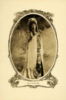 1905 Print Stage Actress Opera Singer Yvonne Dubel Portrait Reutlinger