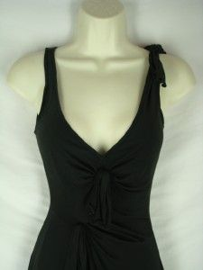 XS Rebecca Taylor Black Silk Jersey Dress Ruffle Aline 2/4 Womens 1193