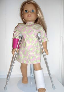 Crutches Free Hospital Gown Fits 18 Dolls Like American Girl