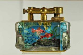 rare vintage alfred dunhill aquarium table lighter nr