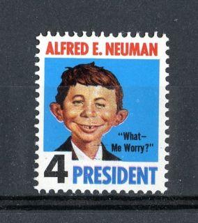 Alfred E Newman 1964 Mad Magazine Novelity Stamp MNH