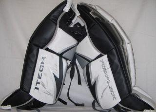 RX5 Size 28 Black White Silver Ice Hockey Goalie Leg Pads