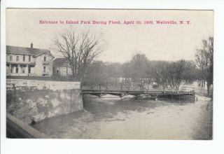 Flood Postcard Wellsville NY Old Vintage Allegany County