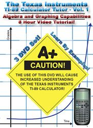 Algebra Graphing TI 89 Calculator DVD Tutor Vol 1
