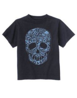 Gymboree All Star Slugger Navy Skull Shirt 4 5
