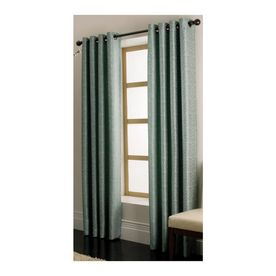 Allen Roth Vernon Blue Grommet Window Panel, Drape, Curtain, 56 in. x