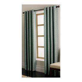 Allen Roth Vernon Blue Grommet Window Panel, Drape, Curtain, 56 in. x