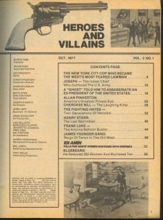 AND VILLAINS October 1977 Idi Amin Allan Pinkerton James Younger Gang