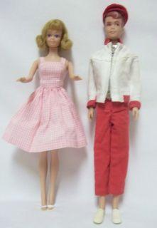Vintage Original Midge and Allan Dolls Barbies Friends