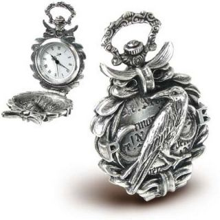 Pocket Watch Edgar Allan Poe Nevermore Alchemy Gothic