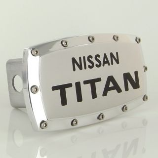 Nissan TITAN Logo Chrome Billet W Allen Bolts Tow Hitch Cover