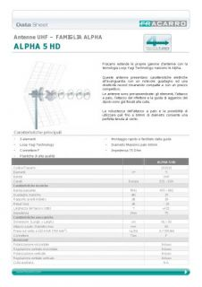 antenna tv uhf fracarro alpha 5hd