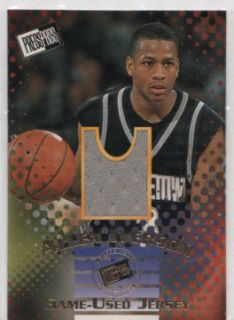 Allen Iverson 1996 Press Pass Game Used Jersey Card