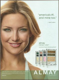 Almay Make Up 2010 print ad magazine advertisement Kate Hudson