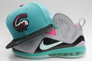 Altoona Curve Lebron 8 9 South Beach Matching New Era Fitted Cap Hat