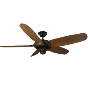 Hampton Bay Altura 56 Ceiling Fan Espresso w Hand Carved Blades Remote
