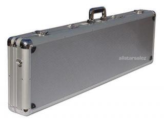 THE MEZZI HARD ABS PLASTIC / ALUMINUM RIFLE 44 CASE SILVER