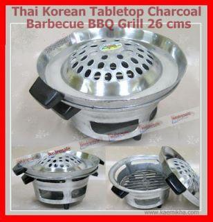 Aluminum Thai Korean Tabletop Charcoal Barbecue BBQ Grill 26 cms