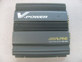 Alpine MRP M200 Car Mono Power Amplifier V Power 150W Subwoofer Amp as