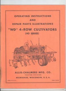 TM 64C ALLIS CHALMERS WD 4  ROW CULTIVATORS 40 SERIES EXPLODED VIEWS