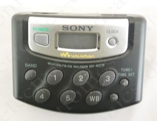 Sony SRF M37W Am FM Radio Walkman 5 Preset w Headphones