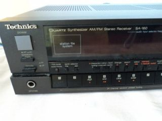 Technics Quartz Synthesizer Am FM Stereo Receiver Radio SA 160 Mint