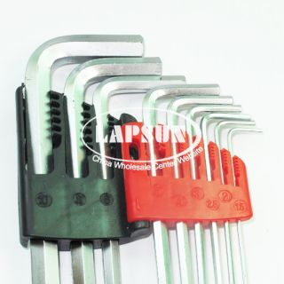 9pcs Hex Key Set Allen Wrench Metric Extractor Extra Long Ball