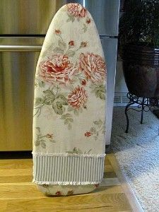 Custom Table Top Ironing Board Cover Waverly Ambridge Rose Pad