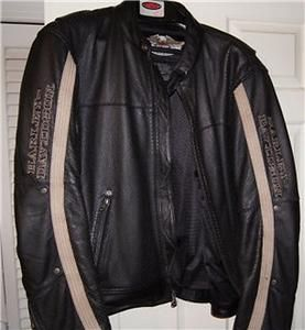 Davidson Leather Jacket Perforated Ambler 3XL 97091 06VM Mint