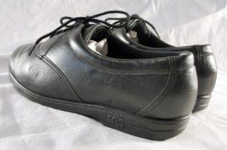 Womens SAS Black Whisper Walking Shoes 5 5 WW Extra Wide San Antonio