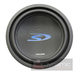 ALPINE SWS 1243D 12 CAR STEREO SUBWOOFER TYPE S 900 WATT SUB DVC 4 OHM
