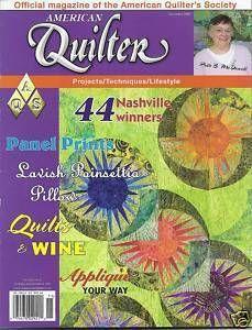 American Quilter Magazine Poinsettia Pillow Wine Quilts Applique Panel