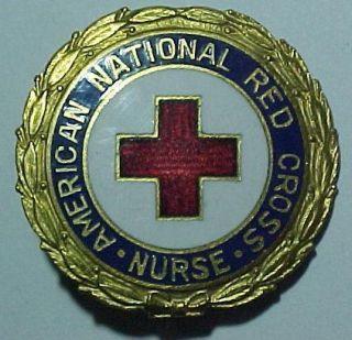 WW2 BB B American Red Cross RD Nurse Pin Arc