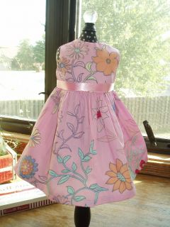 Pink Floral Dress Fits 18 American Girl Doll Clothes