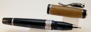 Delta Amerigo Vespucci Blue Wood Limited Edition Rollerball Pen New
