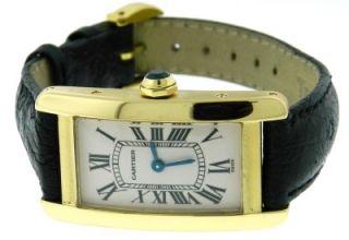 Ladies Cartier Tank Americaine 1710 18K Gold Quartz Watch