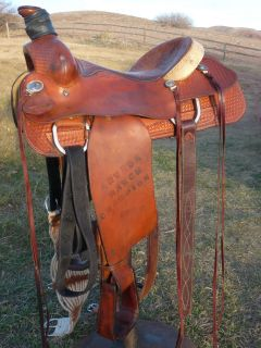 Leather Courts Brand Western Saddle 15 5 Seat Horse Tack Team Roping