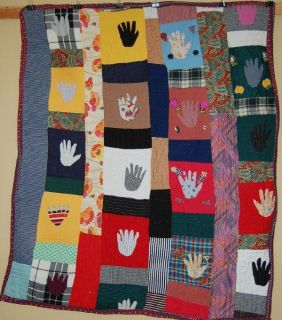 RARE SPECTACULAR VINTAGE AFRICAN AMERICAN FOLK ART HAND QUILT
