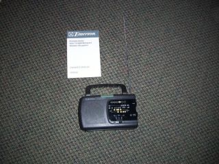Portable Am FM Radio by Emerson Instant Weather TV Sound Works Great