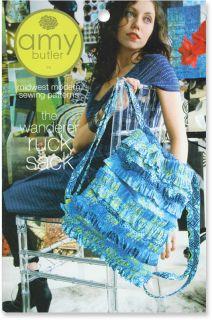 Amy Butler Sewing Pattern Wanderer Ruck Sack Purse Shoulder Bag