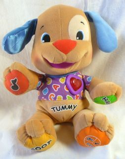 Fisher Price Laugh and Learn Puppy Plush Learning Toy Infant Toddler
