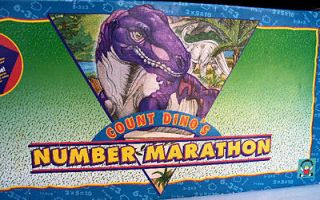Count Dinos Number Marathon Game, 1993 Discovery Toys, SALE