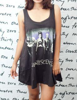 Evanescence Amy Lee Rock Roll Pop Art OO Women T Shirt Dress Tank Top