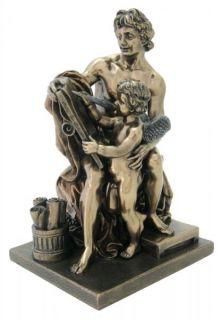Greek Poet Anacreon Cupid Statue Bronze Figurine Angel
