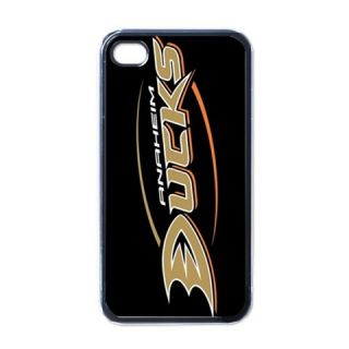 NHL Fans Anaheim Mighty Ducks Apple iPhone 4 Hard Case Black