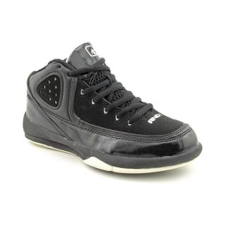 AND1 Raise Up Jr Youth Kids Boys Size 2 Black Leather Basketball Shoes