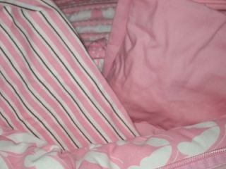 new amy coe mod baby pink butterfly crib bedding set