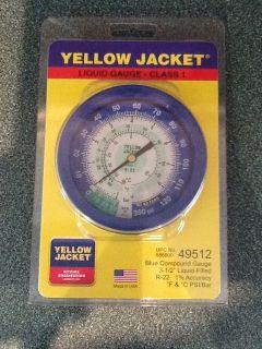 BRAND NEW Yellow Jacket Class 1 Liquid Filled Gauge 49512 R 22