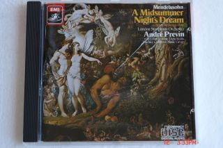 Midsummer Nights Dream Andre Previn LSO EMI 1986 W Germany